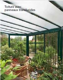 remplissage toiture panneaux translucides veranda