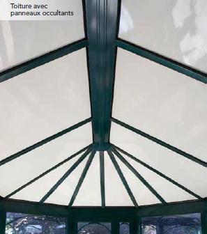 remplissage toiture panneaux occultants veranda