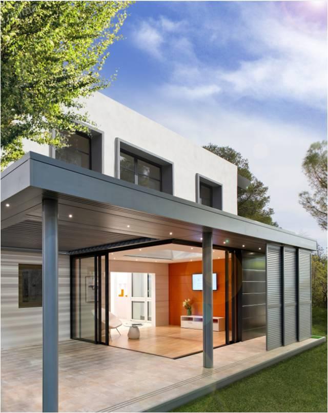 Extens'K : une extension de maison bioclimatique avec pergola intégrée