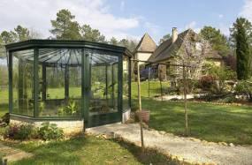 véranda jardin hiver en aluminium type kiosque